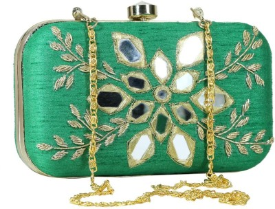 Sadaf Green  Clutch