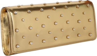 Zaera Women Party Gold  Clutch