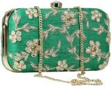 Sadaf Women Green  Clutch