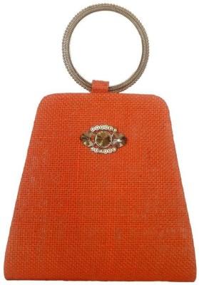 Avisha Creations Women Party Orange  Clutch