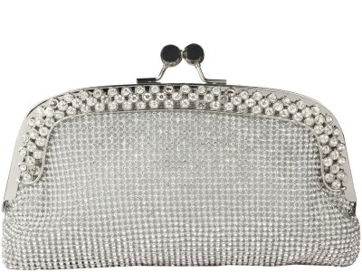 Kion Style Casual, Festive, Wedding, Party Silver  Clutch