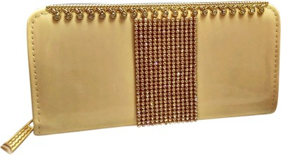 A To Z Creations Casual, Party Beige  Clutch