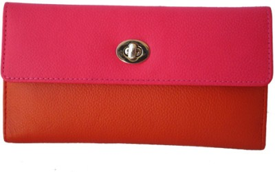Klaska Women Casual Orange, Pink  Clutch