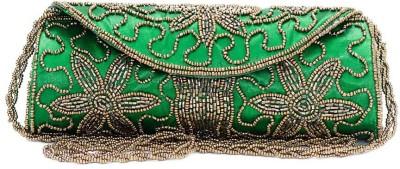 VERMELLO Women Casual Green  Clutch