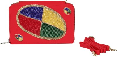 Vdesi Women Casual, Party, Formal, Festive, Wedding Red, Blue, Green, Yellow, Gold  Clutch