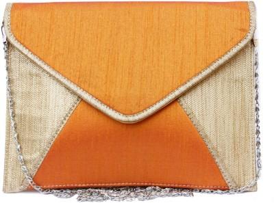 Craftbazaar Orange  Clutch