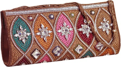 Aapno Rajasthan Women Party Multicolor  Clutch