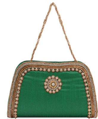 Ashyam Party Green  Clutch