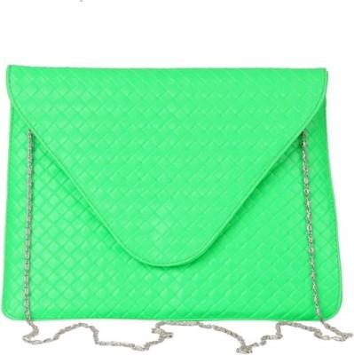 Just Women Women Casual Green  Clutch