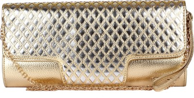 Kiara Women Casual Gold  Clutch