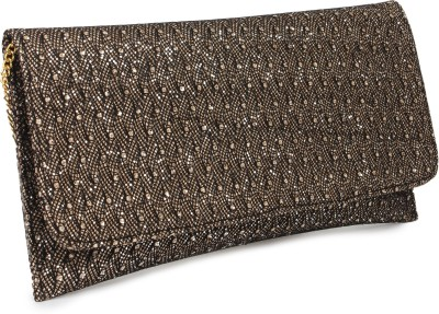 Do Bhai Women Party Brown  Clutch