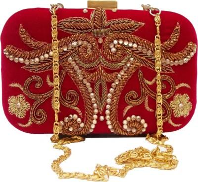Harshi Party, Festive, Wedding Red  Clutch