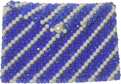 Padma Handicrafts Blue, White  Clutch