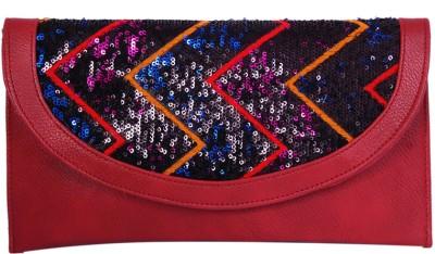 Womaniya Girls Party Red  Clutch