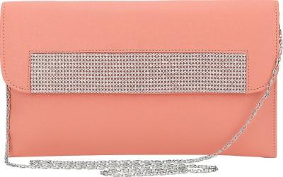 Spectrum Bags Casual, Party Orange, Silver  Clutch