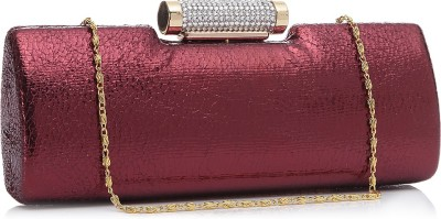 Alessia74 Casual Maroon  Clutch