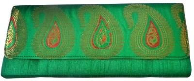 Bhamini Women Party Green  Clutch