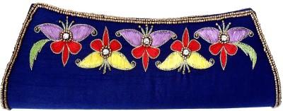 Beadworks Women, Girls Festive, Party, Wedding Blue  Clutch