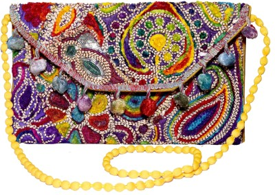 Sampoornam India Wedding, Casual, Party, Festive Multicolor  Clutch