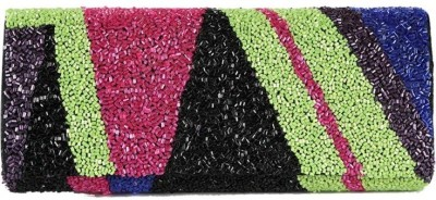 Miruna Designs Women Party, Festive Multicolor  Clutch