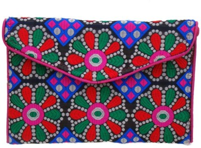 The Living Craft Casual Multicolor  Clutch