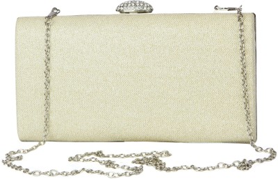 Just Women Women Casual, Party, Wedding White, Silver  Clutch