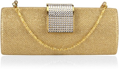 Aadi And Sons Women Festive, Casual Gold  Clutch