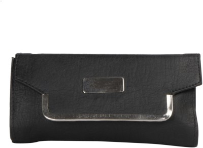 Whate Look Casual Black  Clutch