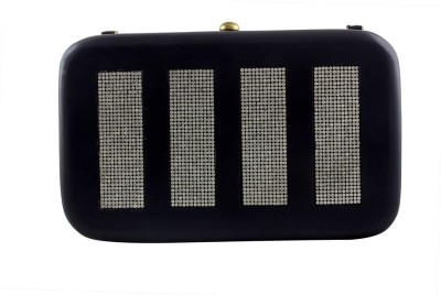 Magh Casual, Wedding, Casual Black  Clutch