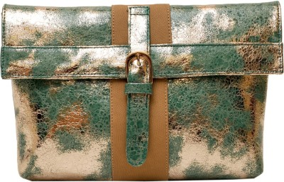 SG Collection Women Party Green  Clutch