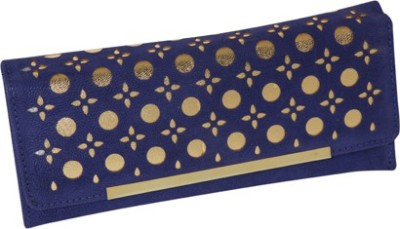 Kuero Party, Festive, Wedding Blue, Gold  Clutch