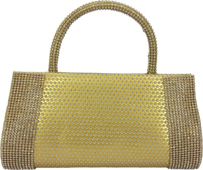 X-WELL Party, Wedding, Festive Gold  Clutch