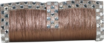 Glitter Collection Wedding, Party, Festive, Casual Brown  Clutch