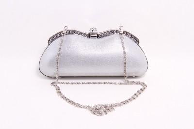 Pinkdivaas Silver  Clutch