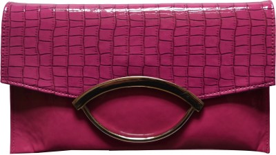 MD Retails Women Party Pink  Clutch