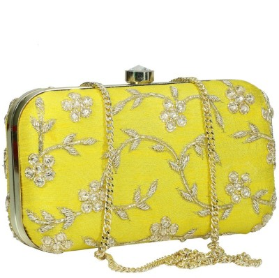 Sadaf Yellow  Clutch