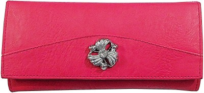 Samco Fas Women Pink Canvas Wallet(2 Card Slots)