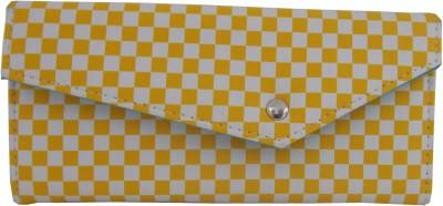 Ekora Women Casual Yellow, White  Clutch