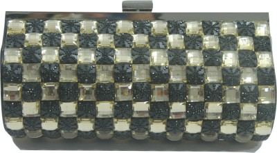 woody woody Party Gold, Black  Clutch