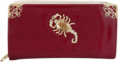 Fashion Hikes Party Red, Gold  Clutch