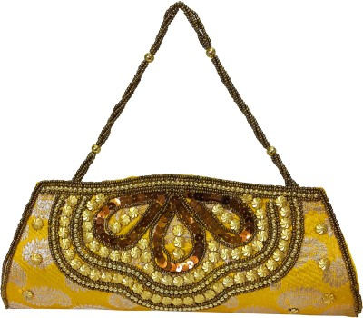 X-WELL Wedding, Party, Festive Yellow  Clutch