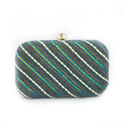 GJT Green, Blue  Clutch