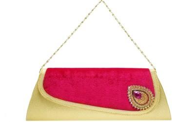 Tripssy Wedding, Festive Gold, Pink  Clutch