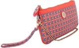 Priya Exports Women Orange  Clutch