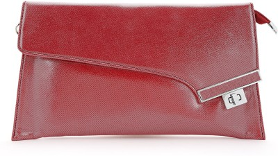 Elligator Women Party Maroon  Clutch