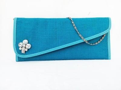 Avisha Creations Women Party Blue  Clutch