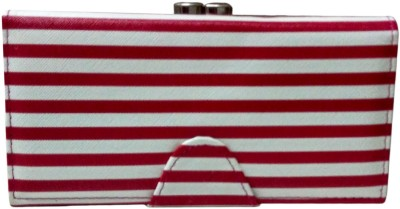 Lasslee Casual Red, White  Clutch