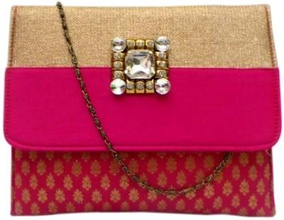 Bhamini Women Festive Pink  Clutch