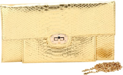 Elespry Women Party Gold  Clutch