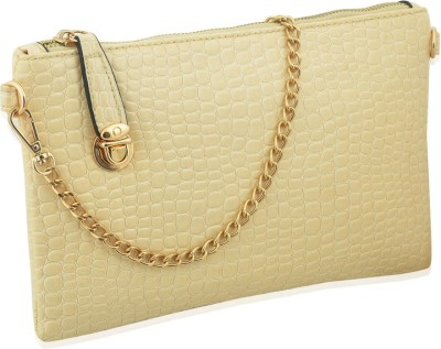 Artisan Crafted Party Beige  Clutch